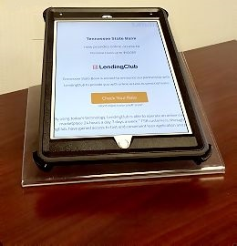 LendingClub on a tablet