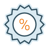 Illustration of a percentage